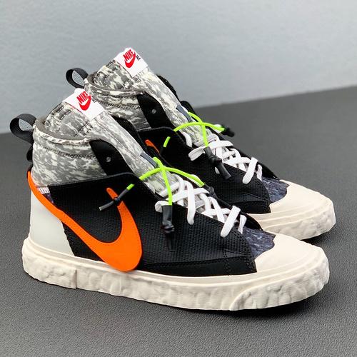Travis Scott 同款上脚 READYMADE x Blazer mid 解构 黑橙_河源裸鞋是高仿吗