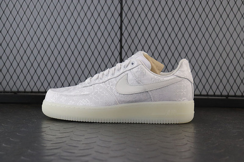 "Conplex Con陈冠希主理品牌Clot X Nike 1world Air Force 1空军一号经典板鞋""Triple White""全白丝绸 AQ0888-100_h12纯原椰子350对比"