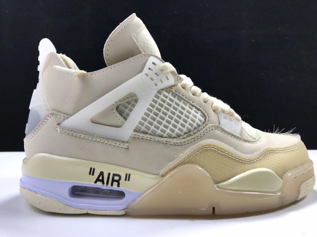 """白帆Off-White x Air Jordan 4 """"Sail""""货号:CV9388-100_莆田LJr在哪买到"""