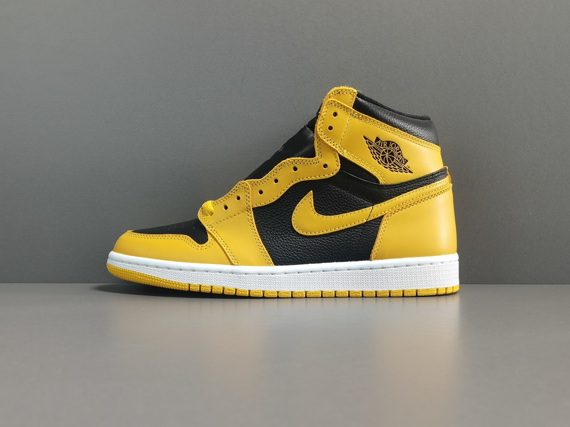 "OG版_AJ1_黑金脚趾 Air Jordan 1  Retro High OG ""Pollen""货号:555088-701_og毒版康扣什么价位"