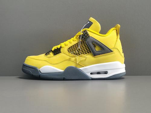 """X版:AJ4_黄色 电母 Air Jordan 4 """"Lightning""""货号:CT8527-700_莆田x版"""