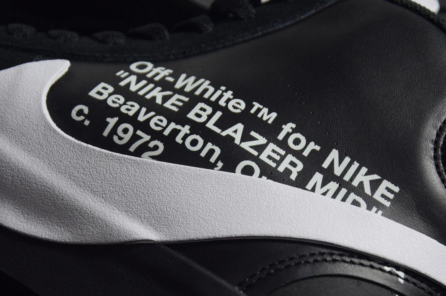 "OFF-WHITE x Blazer Mid 开拓者OW联名 AA3832-001""Grim Reepers""黑联名_正版椰子350v2 g5对比"