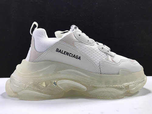 白色气垫  Balenciaga Tripe-S 巴黎世家复古老爹鞋_莆田微商