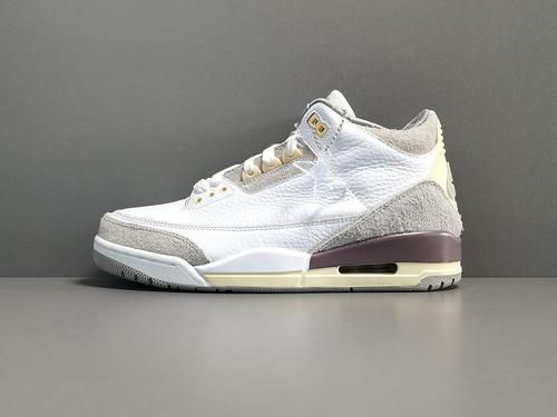 "X版_AJ3_米白灰 Air Jordan 3  Retro SP ""Medium  Grey"" 货号:DH3434-110_细谈一下莆田g5和x版本"