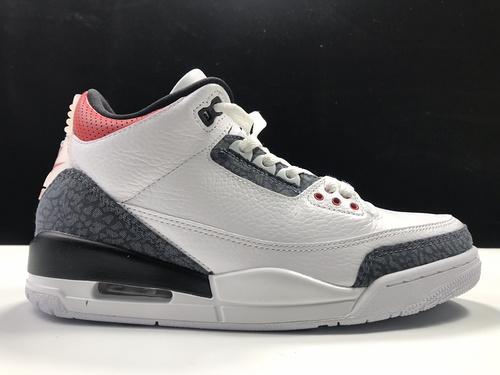 """Air Jordan 3 Retro """"Fire Red"""" 单宁火焰红 白水泥爆裂纹 货号:CZ6431-100_莆田鞋og版本ljr版本get版本"""