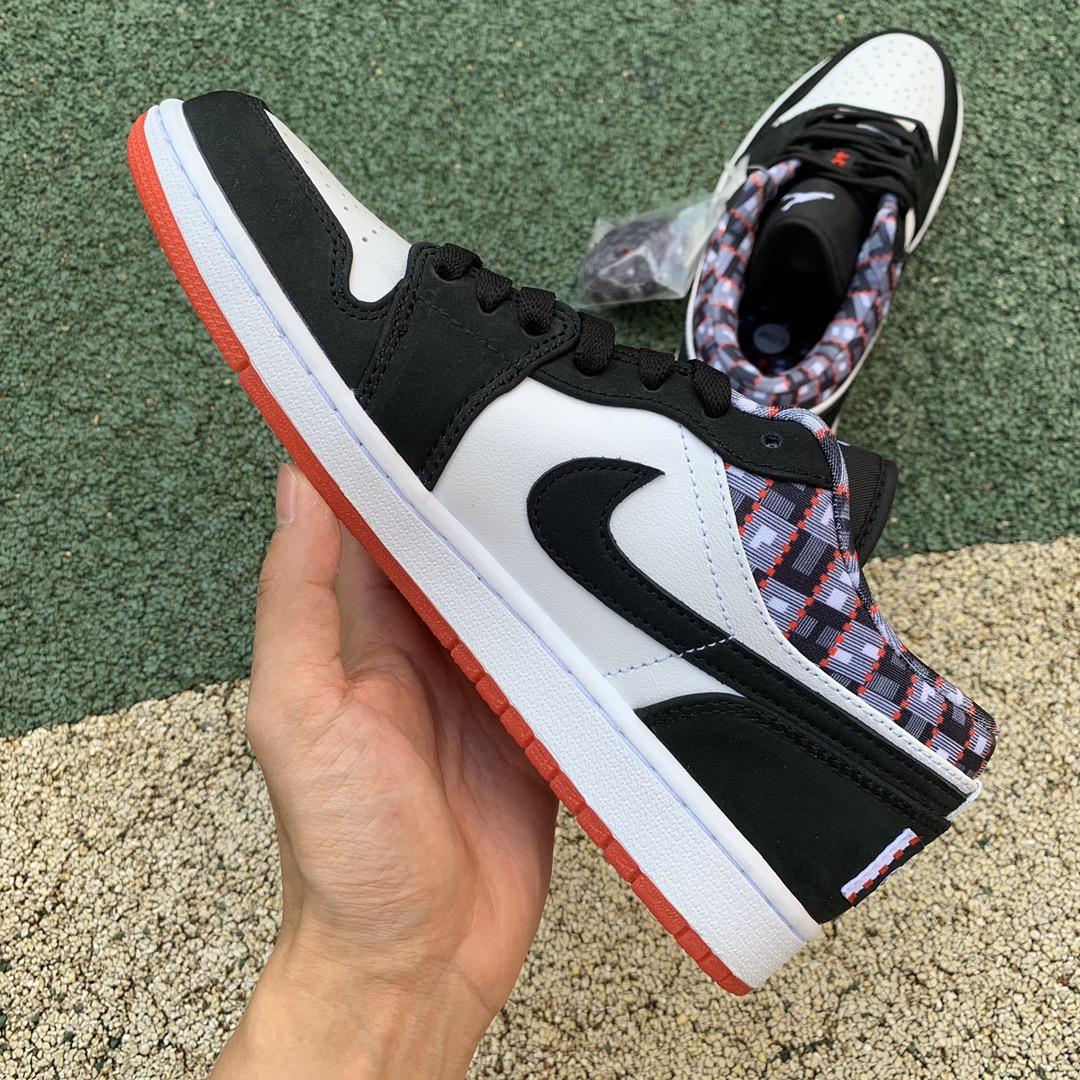 纯原版_Air Jordan 1 Low AJ1黑白 巴黎街头 休闲运动篮球鞋 DM0095-106_ljr什么版本