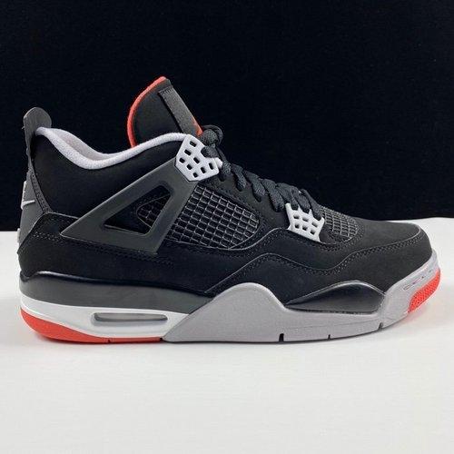 """LJR版aj4黑红 Air Jordan 4""""Bred"""" 2019 Black Infrared 钩子屁股 黑红配色 308497-060_莆田工厂多吗"""