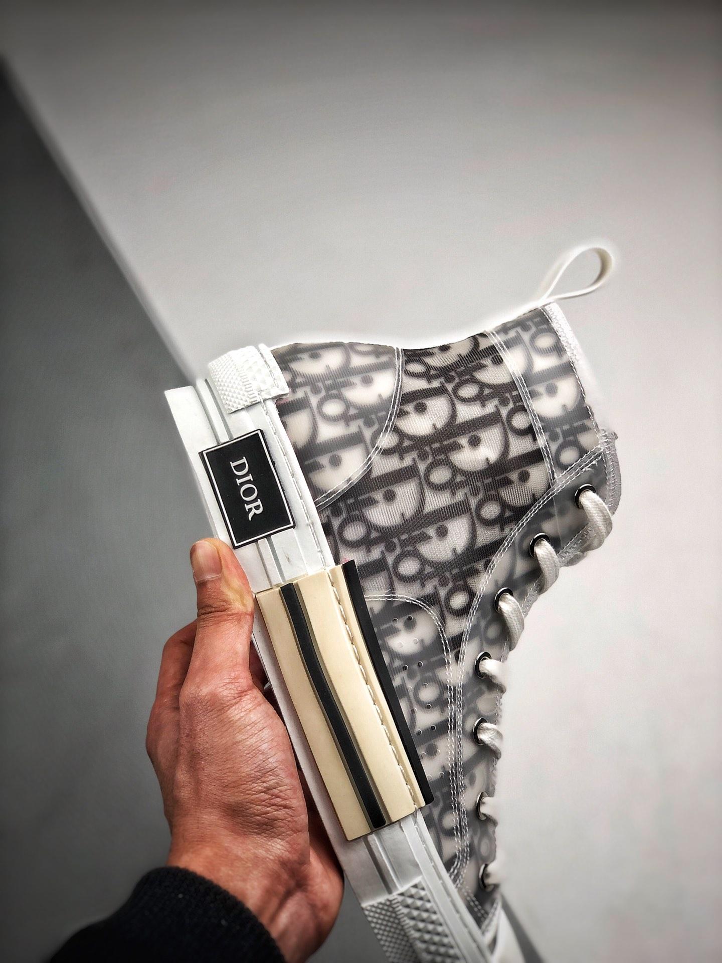 "Dior B23 Oblique High Top Sneakers 迪奥""CD重影""_莆田鞋h12版本什么意思"