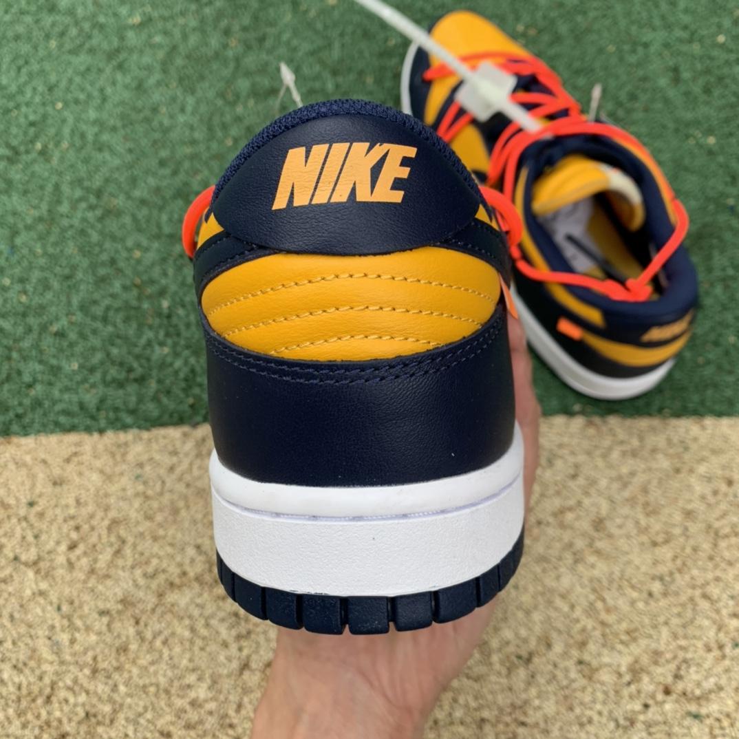 LJR出品-Dunk ow黑黄-OFF-WHITE x Nike Dunk low 黑曜石 绑带 OW联名板鞋 CT085-700_莆田ljr一双大约多少钱