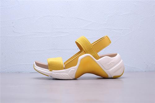 133011/YLW Skechers Neo Block Catalina sandal 斯凯奇一字带厚底增高休闲时尚露趾凉鞋35-39