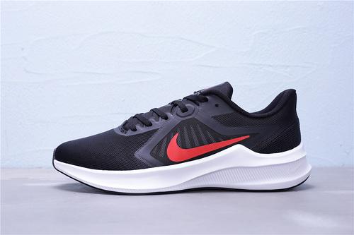 "CI9981-006 公司级 Nike Downshifter 10 登月10代 新款网面透气超轻缓震防滑耐磨休闲运动跑步鞋""黑白红""男鞋39-45"