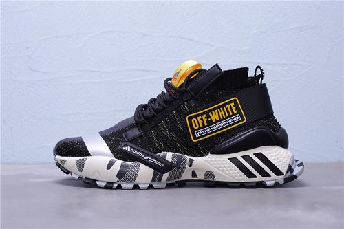 EF6601 Adidas OFF-VHITO 高弹性飞织运动鞋时尚韩版室外跑步鞋春夏季网面旅游鞋 男鞋 36-45