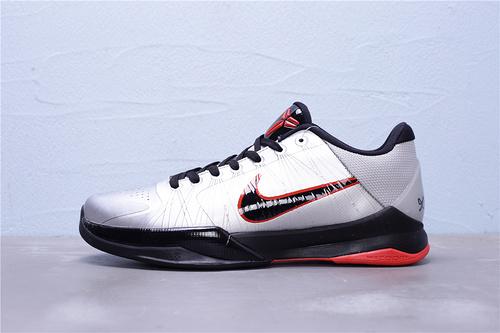 """386429-006 公司级 Nike Zoom Kobe 5 Protro 科比5代 男子篮球鞋 真碳纤维板 区别通货""""银黑红金刚狼""""男鞋40-46"""