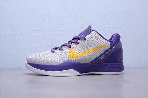 "CW2190-104 公司级Nike Zoom Kobe 6 ""Lakers Home""湖人配色科比六代 低帮男子篮球鞋40-46"