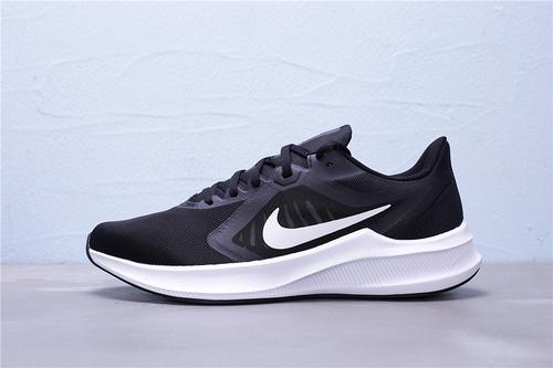 "CI9981-004 公司级 Nike Downshifter 10 登月10代 新款网面透气超轻缓震防滑耐磨休闲运动跑步鞋 区别版本""黑白""男女鞋36-45"
