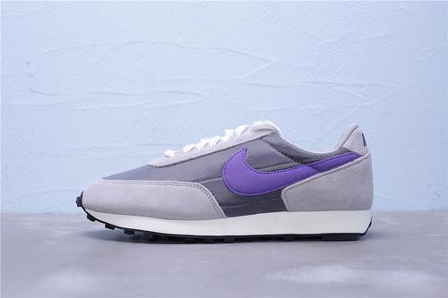 "BV7725-001 公司级 正确黑盒 Nike Daybreak SP 华夫复古休闲慢跑鞋""灰白紫""男女鞋36-45"