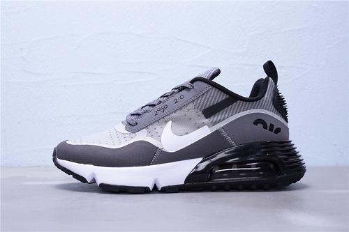 """BV9998-113 公司级 Nike Air Max 2090 2.0 断勾半掌气垫休闲运动慢跑鞋""""贾卡深灰白黑断勾""""男鞋39-45"""