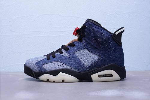 """CT5350-401 公司级 中端版本 Air Jordan 6 Retro""""Washed Denim""""丹宁牛仔 男子文化篮球鞋 男鞋40-47.5"""