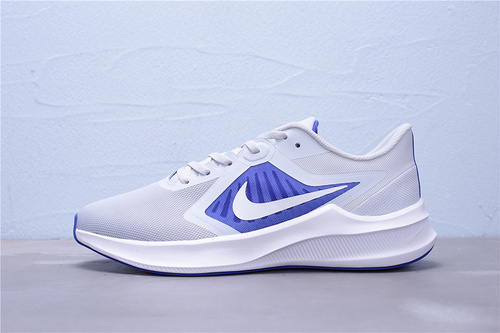 "CI9981-001 公司级 Nike Downshifter 10 登月10代 新款网面透气超轻缓震防滑耐磨休闲运动跑步鞋""灰蓝白""男鞋39-45"
