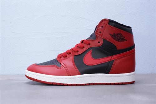 "BQ4422-600 纯原版本 Air Jordan 1 High'85""Varsity Red""AJ1乔1 反转黑红 85版禁穿 完美还原细节 AJ1代经典复古经典高帮 男鞋40.5-46"