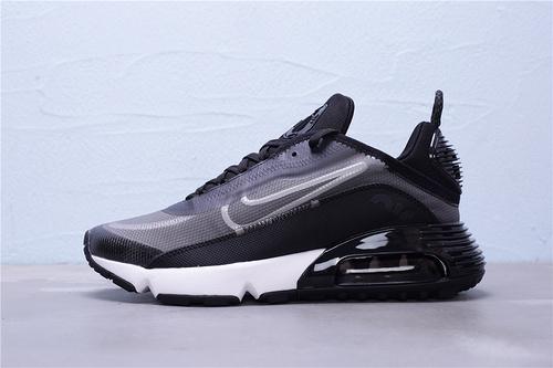 """CW7306-001 公司级 新版本 Nike Air Max 2090 半掌气垫休闲运动慢跑鞋 区别版本""""黑银白""""男鞋39-45"""