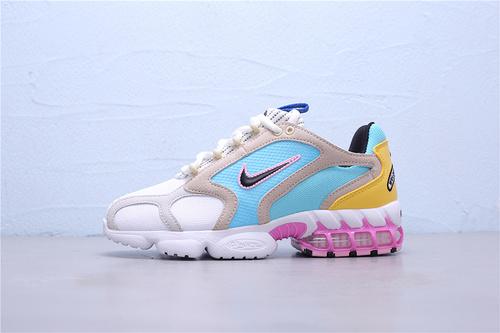 CW7482-100 公司级Stussy x Nike Air Zoom Spiridon CG 2 灰蓝粉斯图西联名复古跑步鞋36-45