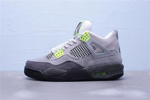 """CT5342-007 纯原版本 Air Jordan 4 LE""""Air Max 95 Neon""""麂皮灰绿3M 40-47.5"""