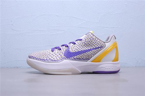 CW2190-105 公司级Nike Zoom Kobe 6 Protro Lakers 3D 紫金湖人鸳鸯科比六代 低帮男子篮球鞋40-46