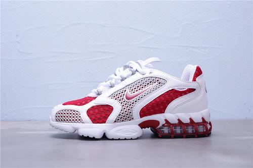 "CD3613-600 公司级 Nike Air Zoom Spiridon Caged 2 斯皮里东牢笼2代系列复古休闲运动慢跑鞋""白红""男女鞋36-45"