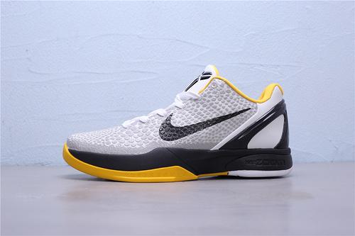 "CW2190-100 公司级Nike Zoom Kobe 6 White DelSol""季后赛科比六代 低帮男子篮球鞋40-46"