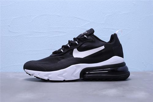 "AO4971-004 公司级 Nike Max 270 React 混合科技 半掌气垫跑步鞋 二维码鞋标外标内置RFID芯片版本主色""黑白""男女鞋36-45"