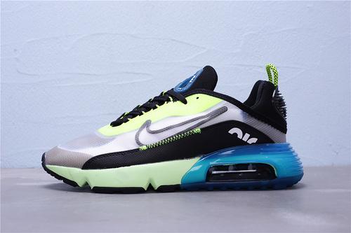 """CN7664-700 公司级 新版本 Nike Air Max 2090 半掌气垫休闲运动慢跑鞋 区别版本""""荧光绿黑蓝透明""""男鞋39-45"""
