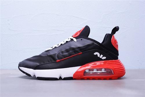 """CU9174-600 公司级 新版本 Nike Air Max 2090 半掌气垫休闲运动慢跑鞋 区别版本""""黑红白""""男鞋39-45"""