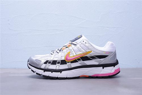 """BV1021-100 公司级 Nike P-6000 复古老爹风休闲运动跑鞋""""银灰粉黄黑""""女鞋35.5-40"""