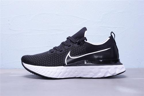 CD4371-002 公司级 Nike React Infinity Run FK 瑞亚 编织超轻缓震跑步鞋 正确大底 纸板磨具 原档案针织鞋面 黑白 男女鞋36-45
