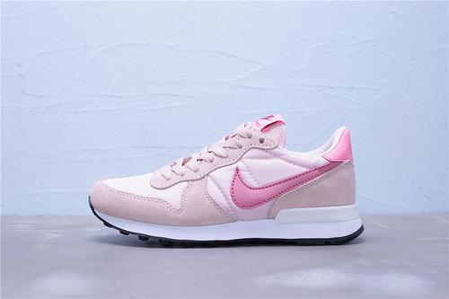 828407-214 公司级 全新版本 Nike Internationalist 华夫经典复古猪八革织布低帮休闲运动鞋 女鞋36-39