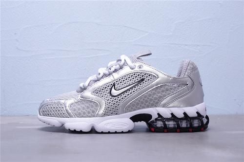 "CD3613-001 公司级 Nike Air Zoom Spiridon Caged 2 斯皮里东牢笼2代系列复古休闲运动慢跑鞋""银子弹白黑红""男女鞋36-45"