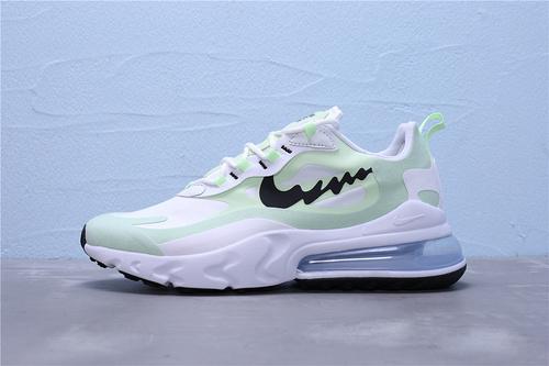 """AO4971-600  正确版 Nike Max 270 React """" NIKE BY YOU """"世面鞋盒外标内置芯片版本 混合科技 波浪勾半掌气垫跑步鞋36-45"""
