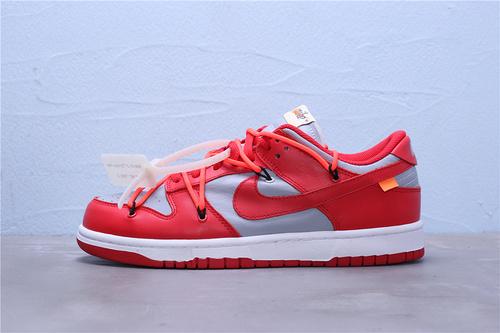 CT0856-600 纯原版本 正式发售 Off-White x Futura x Nike SB Dunk OW联名 正确原装版本 全身采用皮料 鞋带 织唛 内标全部客供 OW联