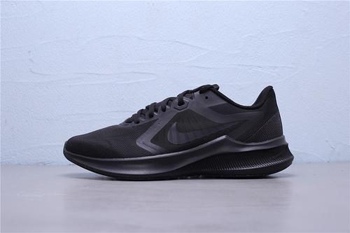 CI9981-002 公司级 Nike Downshifter 10 登月10代 新款网面透气超轻缓震防滑耐磨休闲运动跑步鞋 区别版本全黑武士男鞋39-45