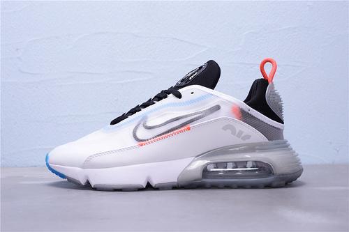 """CT7695-100 公司级 新版本 Nike Air Max 2090 半掌气垫休闲运动慢跑鞋 区别版本""""白黑橙冰蓝透明""""男女鞋36-45"""