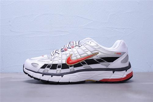 """BV1021-101 公司级 Nike P-6000 复古老爹风休闲运动跑鞋""""银白黑红""""男女鞋35.5-44.5"""