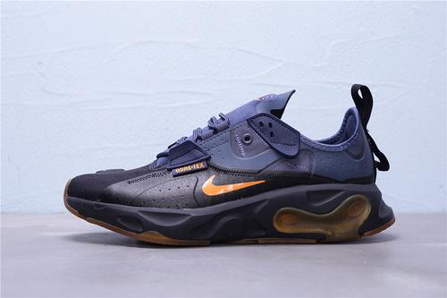 "BQ4737-001 公司级 Nike React-Type GTX 机能防水系列 休闲缓震运动慢跑鞋""黑夜蓝橘焦糖黄""男鞋39-45"