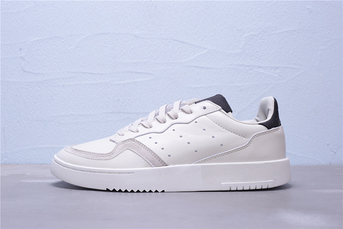 "FU9490 公司级 Adidas 阿迪达斯 Supercourt 头层皮复古运动休闲板鞋""米白灰黑""男鞋40-45"
