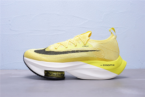 "CI9925-800 公司级 Nike Air Zoom Alphafly NEXT% 马拉松气垫轻量超跑运动慢跑鞋""柠檬黄黑白""男女鞋36-47.5"