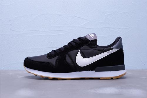 828407-021 公司级 全新版本 Nike Internationalist 华夫经典复古猪八革织布低帮休闲运动鞋 男女鞋36-44