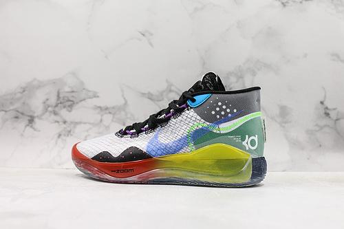 杜兰特KD12 Nike Zoom KD12 EP 结合凯文·杜兰特君临全场的进攻气势与源源能量,轻松驾驭整场比赛 货号:AR4230 108          G25    Y5