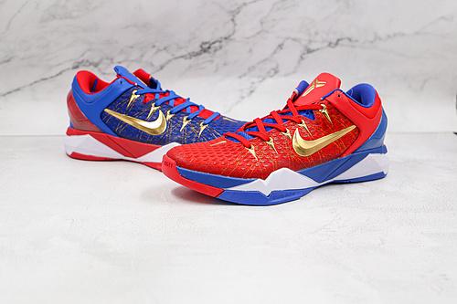 科比7代 鸳鸯 红蓝鸳鸯 货号:488371-406 Nike Zoom Kobe VII 科比7代复刻实战运动低帮文化篮球鞋独家原厂飞线工艺  K25-5