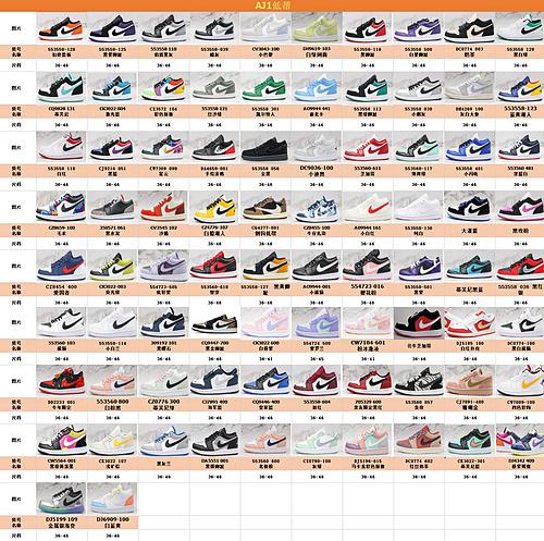 支持二次放店 合集 Air Jordan 1 Low  AJ1乔1低帮休闲板鞋 同步官方配色 市场唯一独家头层皮打造 原鞋原档案开发  J21