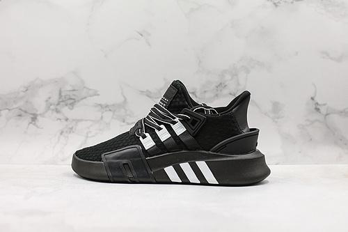 黑白 EQT BASK ADV 将醒目篮球气质融入复古90年代Equipment 型格,结构分明,针织网面鞋面贴合足部,另缀合成绒面革细节      Q15   L16